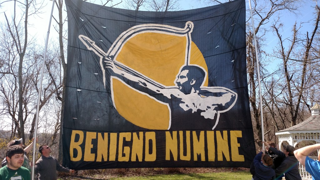 A much dryer version of our opening day tifo