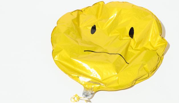 delfated balloon